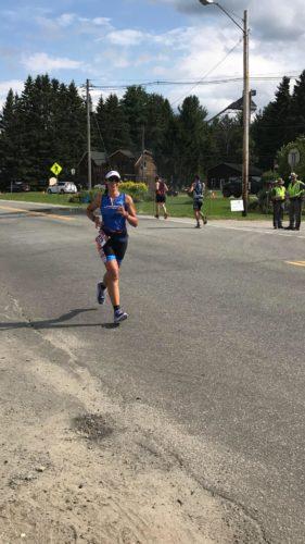 Photo submitted by Amanda Mercer Marietta resident Amanda Mercer runs in the Iron Man Triathlon on July 23 in Lake Placid, N.Y.