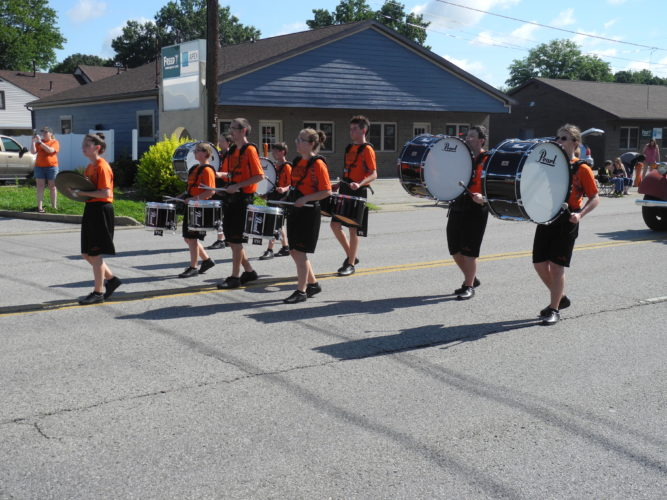 JEFFREYSAULTON Special to The Times Members of the Belpre High School Marching Band at Belpre Homecoming.