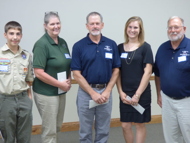 From left, Andrew Sheanshang and Teresa Caldwell, Athens SWDC; Brad Miller, Monroe SWCD; Katie Marks, Washington SWCD; Dale Dietrich, Buckeye Hills RC&D.