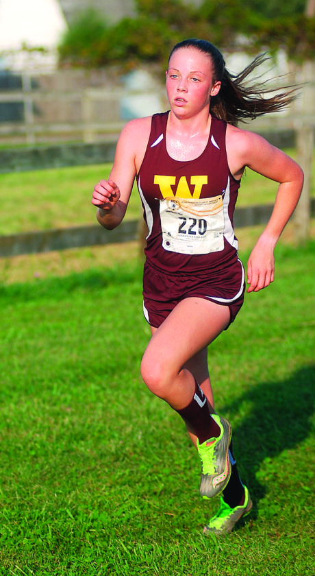 Williamstown's Ella Hesson finished third overall and helped the Yellowjackets to a runner-up finish at the Mid-Ohio Valley Cross Country Challenge Tuesday in Mineral Wells, W.Va.  JAY W. BENNETT The  Marietta Times