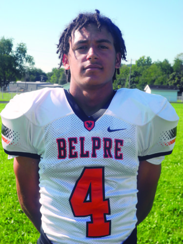 Times file photo Belpre's Tojzae Reams is a standout football player and an All-Ohio track honoree for the Golden Eagles.