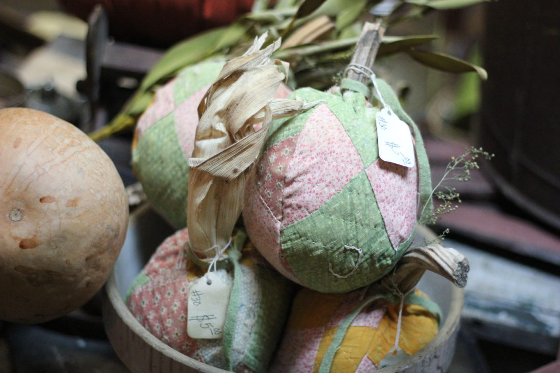 JANELLE PATTERSON   The Marietta Times. Quilted pumpkin decor can be found at Dad's Primitive Workbench in Marietta.