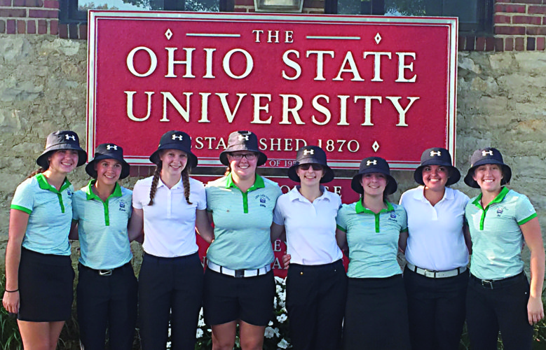 Courtesy photo (Tami Dietz) The Waterford golf team featured, from left to right, Ashley Offenberger, Kenzie Dietz, Rachel Adams, Abby Eichmiller, Allie Leach, Liz Leach, Alicia Dickenson, and Bri Hart.