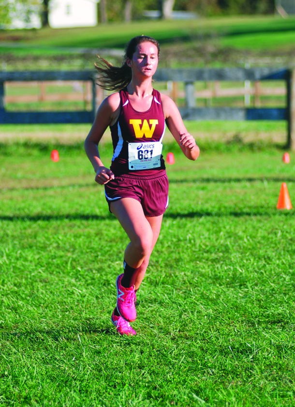 JAY W. BENNETT The Marietta Times Williamstown senior Kasey McNamara will make her final appearance Saturday at the state cross country meet at Cabell Midland high school.