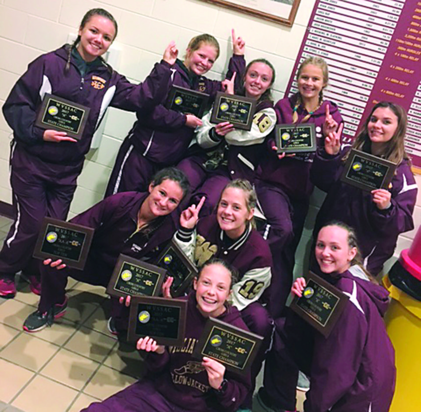 The Williams-town girls cross country team won the W.Va. Class A state title Saturday at Cabell Midland. It was the program's first cross country state title since winning the Class AA/A crown in 1997. Courtesy photo