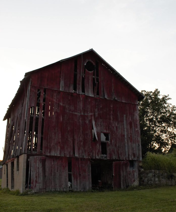 MICHAEL KELLY   The Marietta Times An old barn was one of the subjects Jenny Bruce found during a drive on McNeal Road in Waterford Township as part of her Timesaver Memories Facebook project to capture images on obscure roads of Washington County.