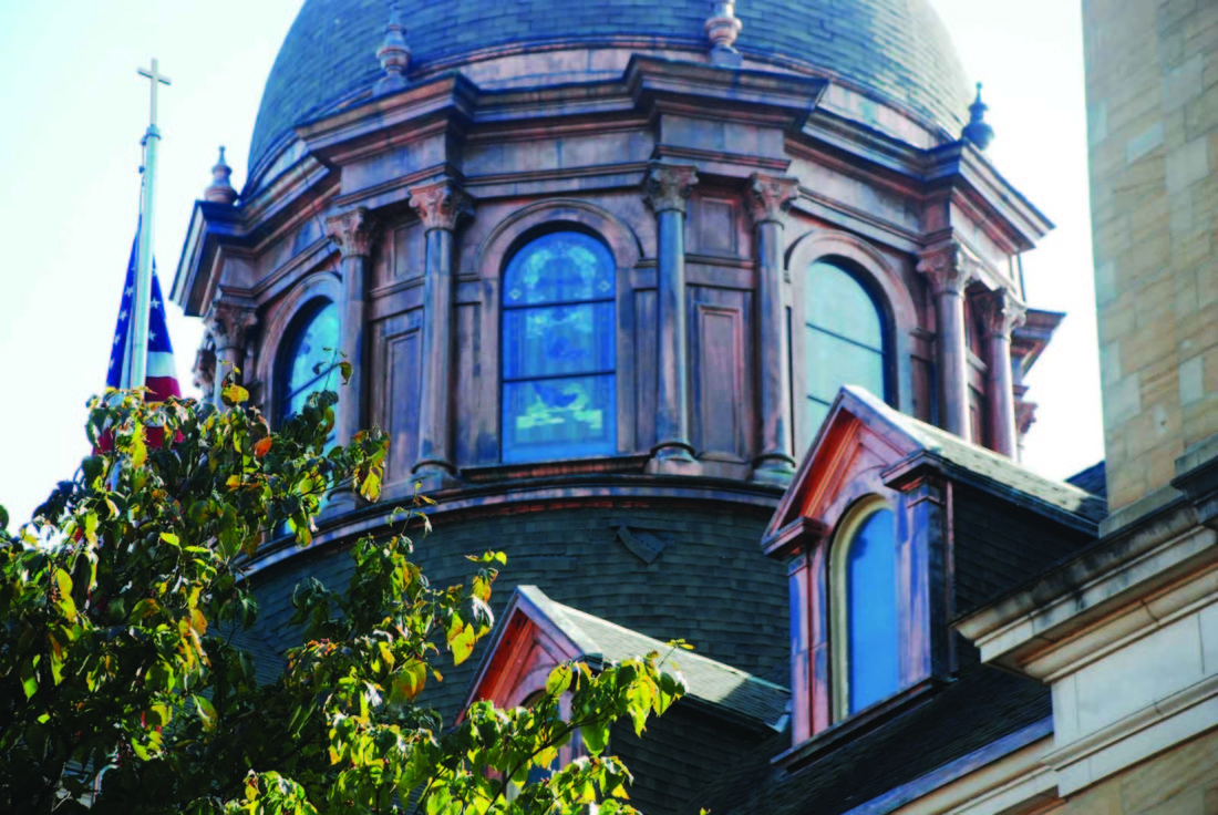 Art Smith   The Marietta Times A view of the dome on the Basilica of Saint Mary of the Assumption at 506 Fourth St., dominate the corner of Fourth and Wooster streets. The Times will feature photos of area churches on this page most Saturdays. If you have a photo that showcases the beauty of an area house of worship, submit it to Art Smith asmith@mariettatimes.com for possible inclusion on this page.