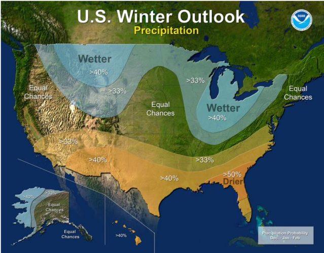 winter outlook precip map