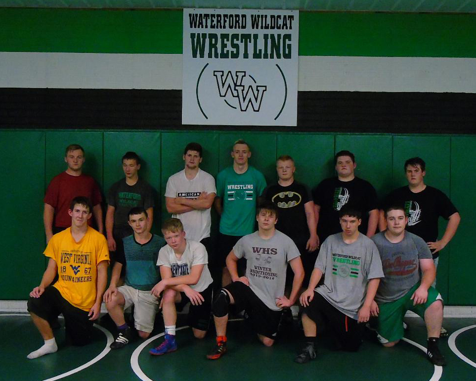 Courtesy photo The Waterford wrestling team poses for a photo during a practice session at Waterford High School.