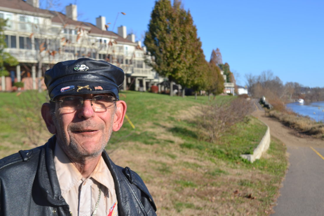 MICHAEL KELLY   The Marietta Times Darrell Rummer, 71, grew up in the south side neighborhood of Marietta and still lives there, walking and bicycling the River Trail.
