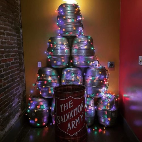 Photo courtesy of the Marietta Brewing Company. Keg tree The Marietta Brewing Company's Christmas tree this year is made out of kegs and lights.
