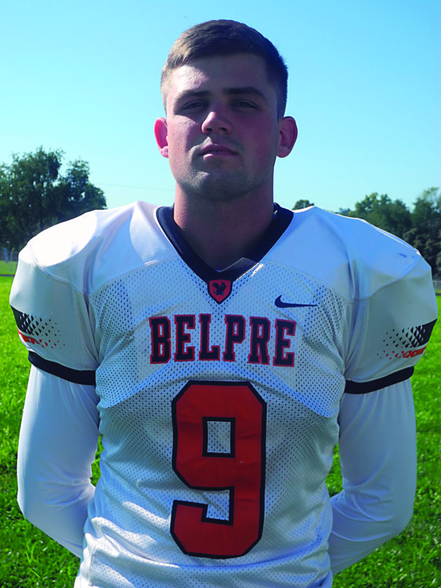 Times file photo Belpre senior Bailey Sprague is a first All-Ohio punter in football and is also a standout in basketball and baseball.