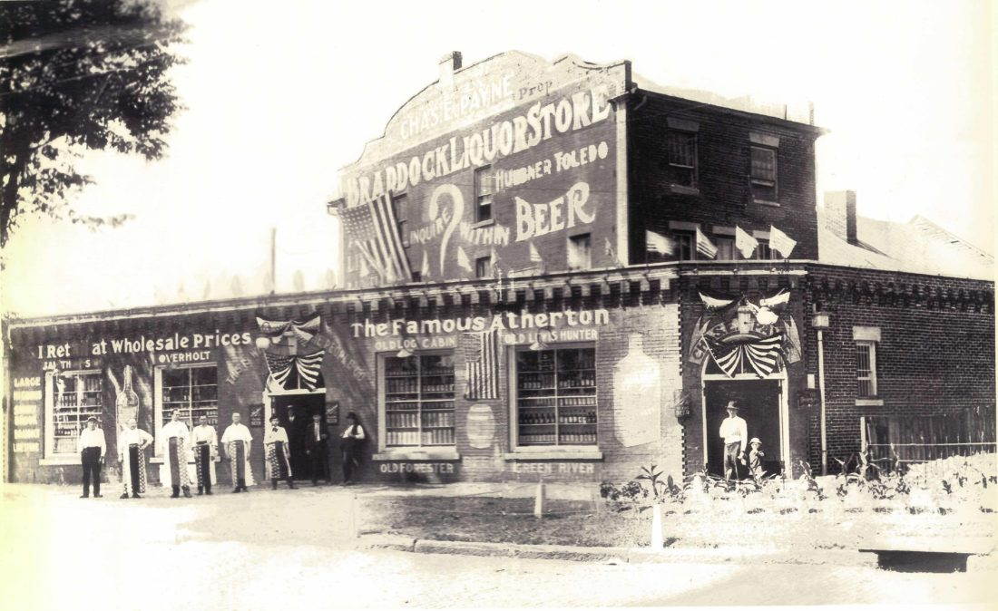 Photos courtesy of Harley Noland Formerly known as Braddock Liquor Store, the current Levee House building was first constructed by Col. Joseph Barker and served as the first dry goods store in the Northwest Territory.