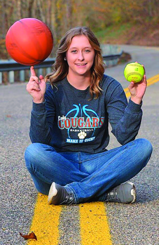 Courtesy photo Frontier's Kylie Daugherty eclipsed the 1,000-point mark for her career last week. She also is a standout in softball for the Cougars.