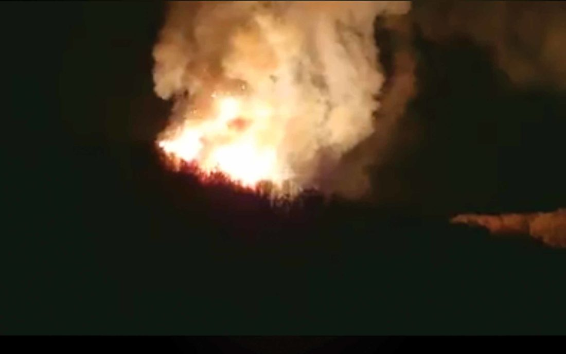 Pipeline explosion in Noble County