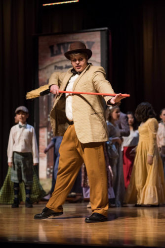 "Tyler Hartline, a Marietta High School junior, portrayed Harold Hill in last year's production of ""The Music Man."" The teen is involved in football, 4-H and choir and plans to  teach music. Photo submitted by Tyler Hartline"