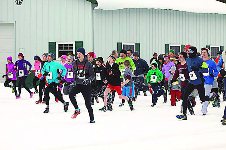 Courtesy photo The 14th annual Cabin Fever 2-Mile Run/Walk event is scheduled for 2 p.m. Sunday, Feb. 25 at the Broughton Nature and Wildlife Education Area near Marietta and Devola.