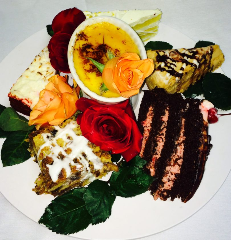 Photo courtesy of Phi Chen/Austyn's Restaurant A variety dessert plate prepared by Austyn's pastry chef and one of their Valentine specials.