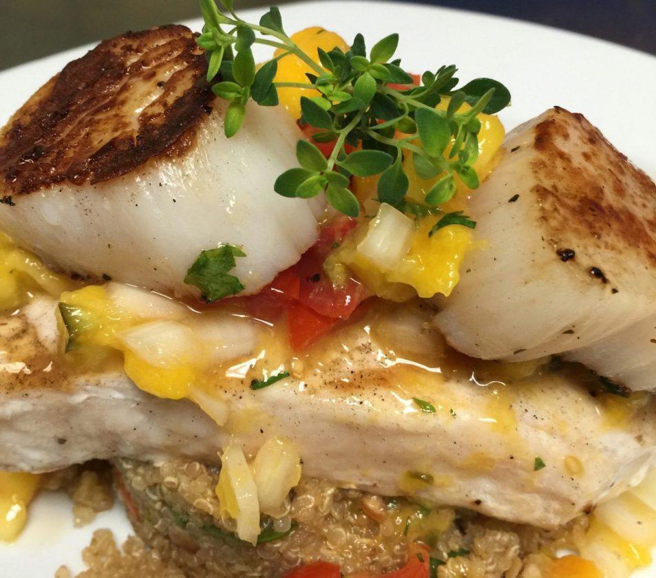 Photo courtesy of Phi Chen/Austyn's Restaurant Chilean sea bass and scallops.