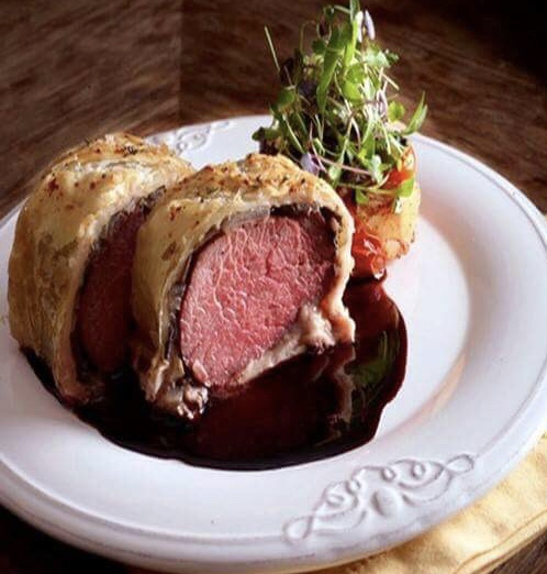 Photo courtesy of the Lafayette Hotel Beef Wellington with Lobster Risotto will be offered as part of the Lafayette Hotel's Valentine's Day menu.