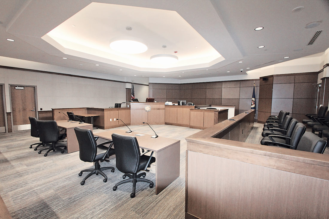 While Some Finishing Touches Like Wall Paneling Still Need To Be Put In,  New Courtrooms At The Lyon County Government Center Are Now Complete Enough  To Use.