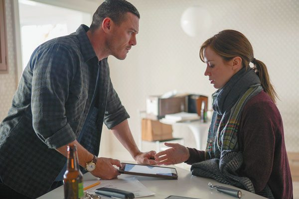 "Luke Evans and Emily Blunt star in ""The Girl on the Train"" DreamWorks/Universal Pictures photo via AP"
