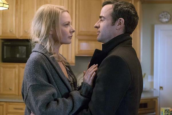 "Universal Pictures photo via AP Haley Bennett and Justin Theroux appear in a scene from ""The Girl on the Train"""