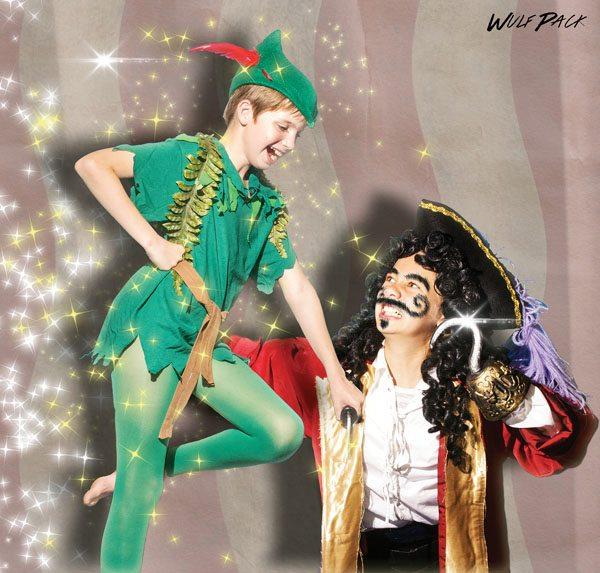 "Saturday & Sunday – Sylvia Buckner (left) and Dakota Welch in ""Peter Pan Jr.""; photo by Brett Wulfson."