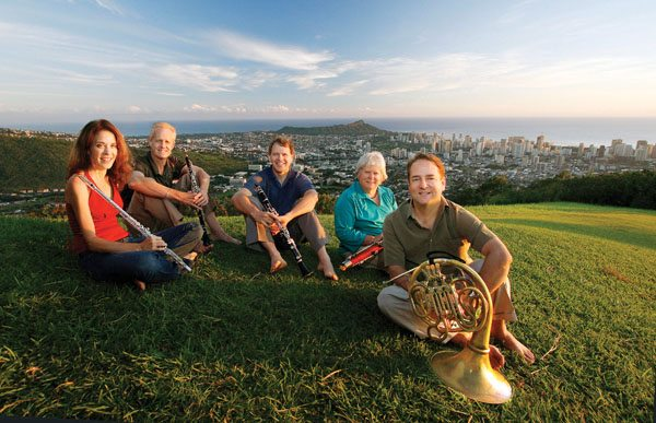 "Chamber Music Hawai'i's Spring Wind Quintet will collaborate with storyteller B.K. Cabigon to present the story ""Paka'a Lanakila!""  Photos courtesy the MACC"