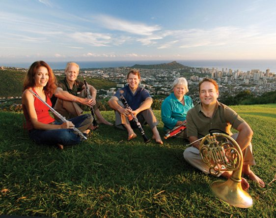 """Chamber Music Hawai'i's Spring Wind Quintet will collaborate with storyteller B.K. Cabigon to present the story """"Paka'a Lanakila!"""" Photos courtesy the MACC"""