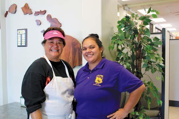 Hui No Ke Ola Pono Chef Cinda Hu'eu and Manager Alena Ornellas at the just reopened Simply Healthy Cafe in Wailuku. The Maui News / CARLA TRACY photo