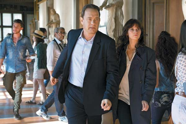 "Tom Hanks and Felicity Jones star in ""Inferno"" Sony Pictures photo via AP"