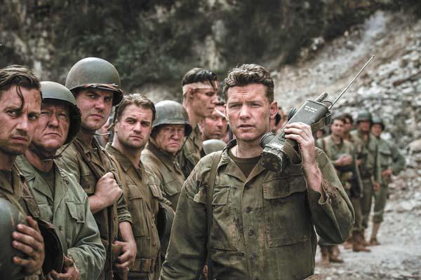 "Sam Worthington in a scene from ""Hacksaw Ridge."" Summit / photo via AP"