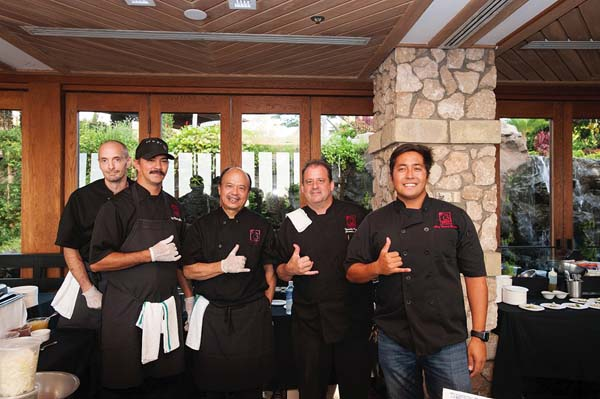 The team from Three's Bar & Grill is keeping busy with catering events such as Hui No'eau Wailea Food & Wine Celebration. Photo courtesy Hui No'eau