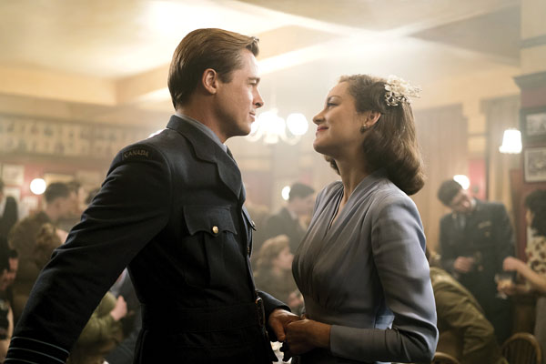 "Brad Pitt and Marion Cotillard star in ""Allied."" Paramount Pictures photo via AP"