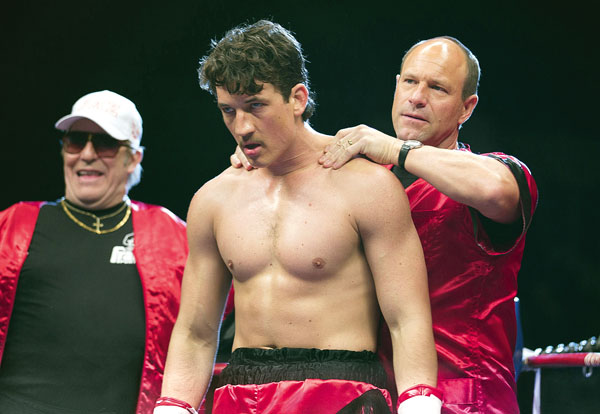 """Ciaran Hinds (from left), Miles Teller and Aaron Eckhart star in """"Bleed for This."""" OpenRoad Films photo via AP"""
