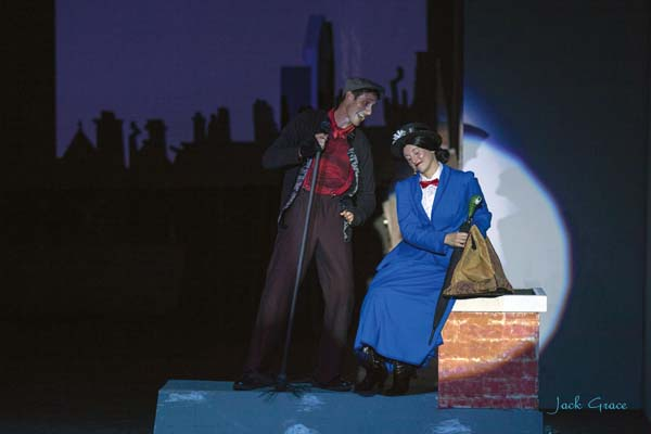 "Chris Kepler and Sara Jelley star in ""Mary Poppins."" JACK GRACE photo"