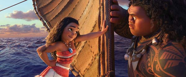 "Auli'i Cravalho and Dwayne Johnson star in Disney's ""Moana."" Disney photo via AP"