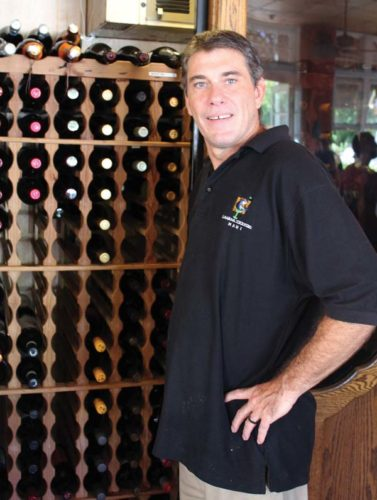Lahaina Coolers General Manager Sean Stover is a bartender as well as a cook at the  popular restaurant. Stover will prepare a feast Friday for a wine tasting dinner of three courses that will be tasty and moderately priced, too. The Maui News / CARLA TRACY photo
