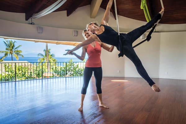 or get a taste of the circus with dance trapeze.   Photo courtesy Uplift Maui