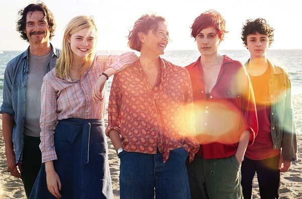 "Billy Crudup (from left), Elle Fanning, Annette Bening, Greta Gerwig and Lucas Jade Zumman star in ""20th Century Women."" Photo courtesy Maui Film Festival"