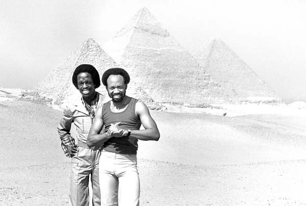 and Maurice White (far right) performed on Maui over the years.