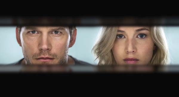 """Chris Pratt and Jennifer Lawrence star in """"Passengers."""" Columbia Pictures/Sony photo via AP"""