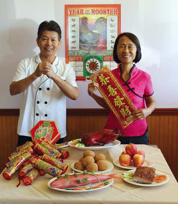 Mike's Hong Kong Bistro owner-chef Mike Xiao and his wife, Tina Xiao, are enticing with authentic jai, gao, jian dui and other authentic Chinese New Year dishes now through Feb. 7. The Maui News / CARLA TRACY photo