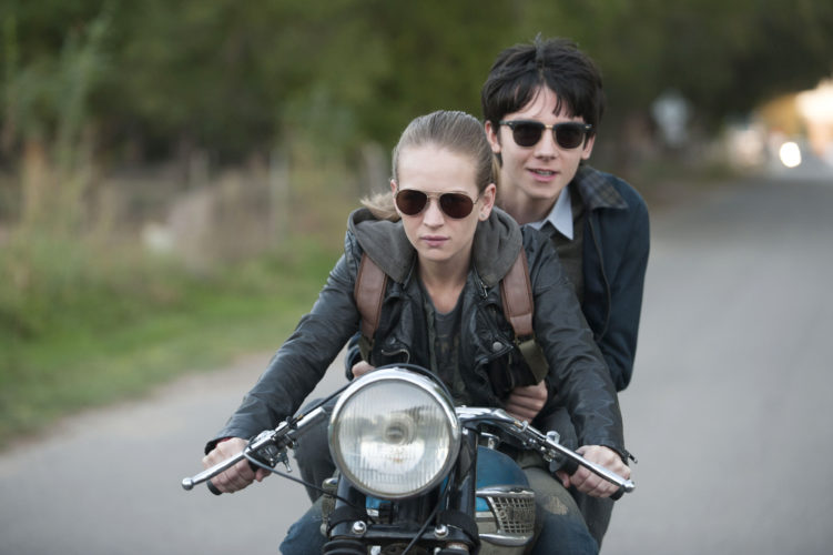 """Britt Robertson and Asa Butterfield star in """"The Space Between Us"""" STX Productions photo via AP"""