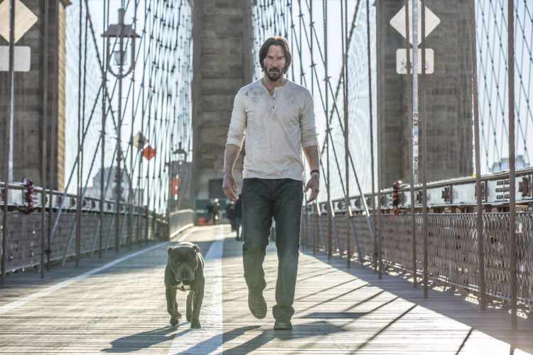 """This image released by Lionsgate shows Keanu Reeves in a scene from, """"John Wick: Chapter 2."""" •(Niko Tavernise/Lionsgate via AP)"""