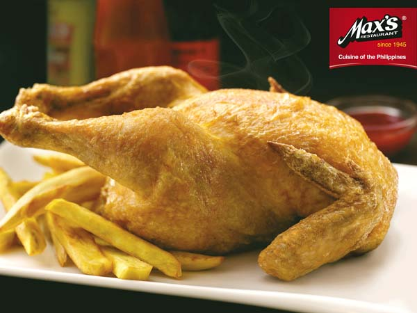 Max's fried chicken has been famous since the original eatery opened in Manila in 1945. Max's Restaurant photo
