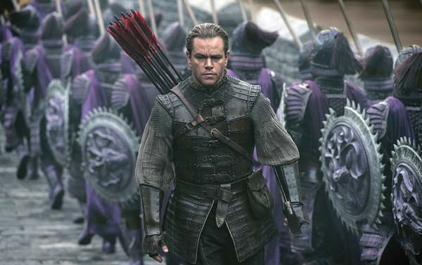 """Matt Damon stars as William Garin in """"The Great Wall."""" Legendary Pictures and Universal Pictures photo via AP"""