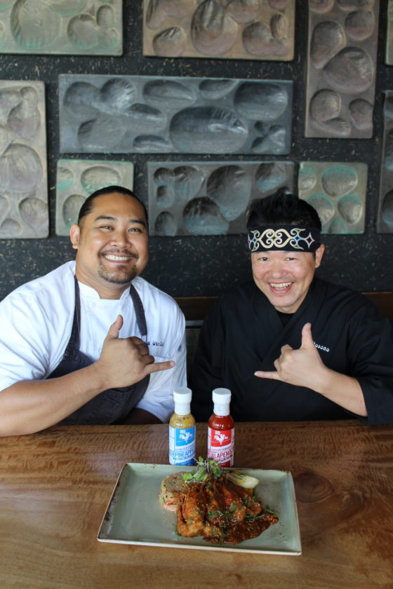 Japengo Chef de Cuisine Gevin Utrillo (left) and Sushi Chef Jin Hosono will wow Fridays in March with Maui Tastemakers dinners in addition to the a la carte menu. • The Maui News / CARLA TRACY photo