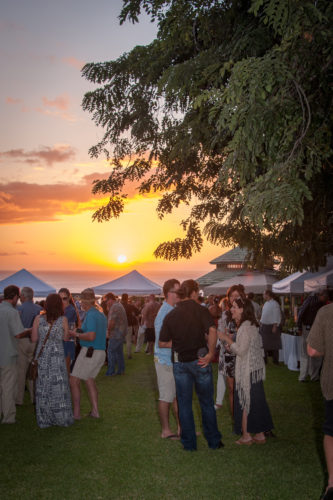 Saturday - A Taste of School Gardens at Hotel Wailea's sunset lawn; photo by Mieko Photography
